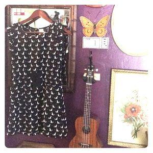 Cute Black Cat Halloween Girls Dress